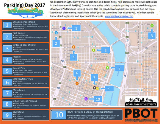 Parking Day map