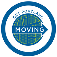 Get Portland Moving Circle Logo