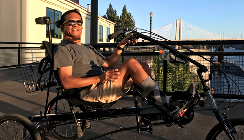 Chris rides Adaptive BIKETOWN
