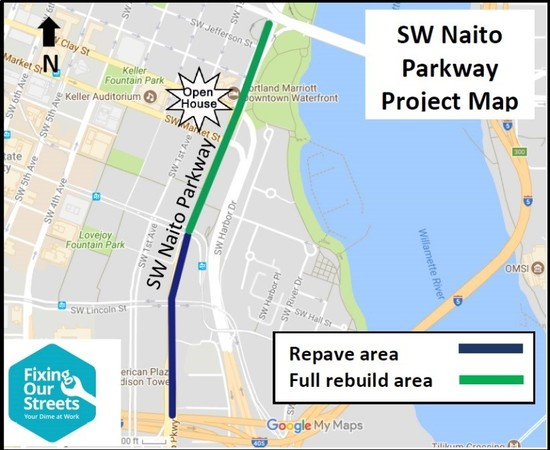 SW Naito Project Map