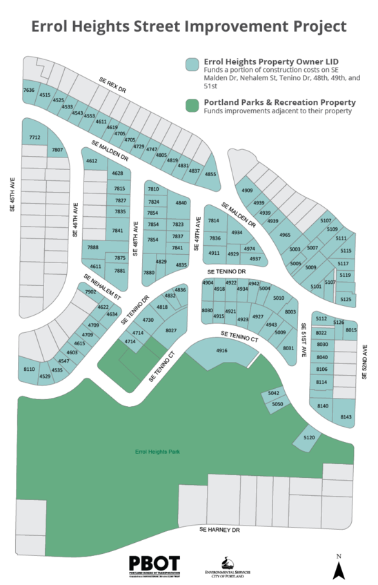 Errol Heights LID Map