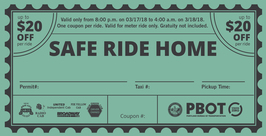 safe ride home coupon