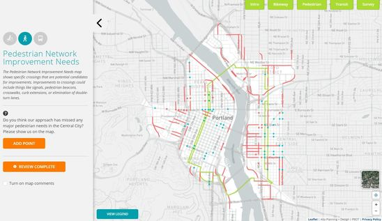 Central City in Motion Online Open House Walking Map