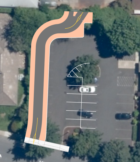 Proposed bike/walk trail at 106th and Wasco.