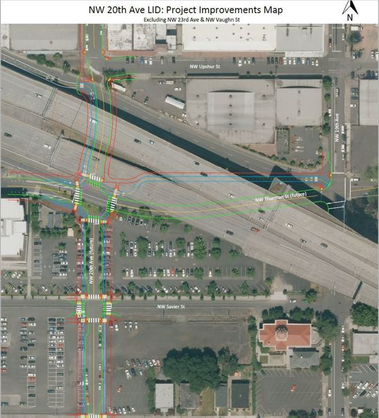 NW 20th Avenue LID Project Improvements Map