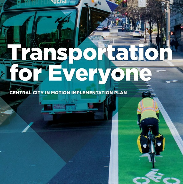 Central City in Motion Implementation Plan cover