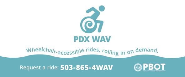 PDX WAV banner blue logo image
