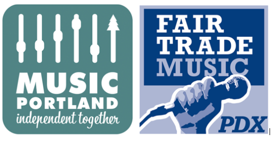Music Portland Fair Trade Music Logos Together