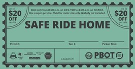 Safe Ride Home St. Patricks Day