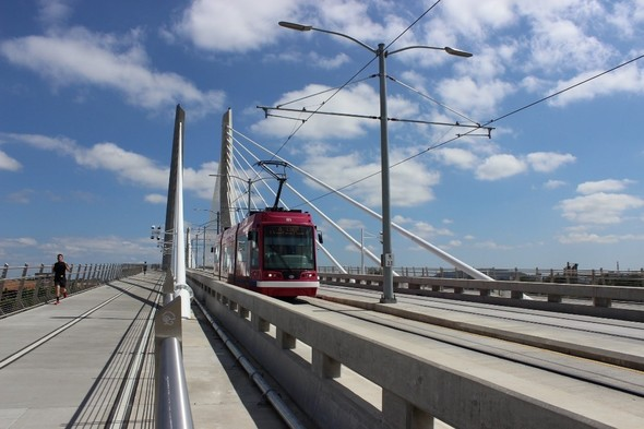 Streetcar over the Tilikum