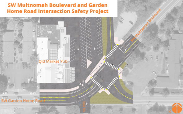 SW Garden Home and Multnomah Intersection design