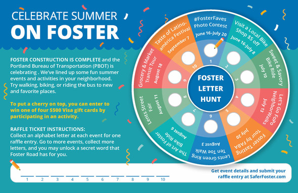 Foster Summer Events Wheel