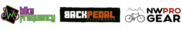 Logos of participating bike shops
