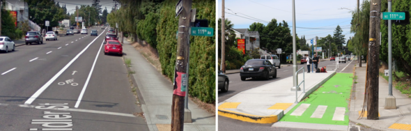 Before and After: 111th and Weidler