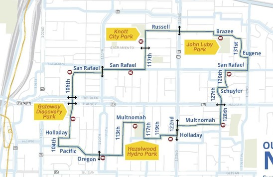 Outer NE Map 2019 Sunday Parkways