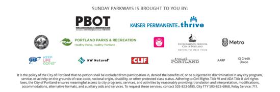 Sunday Parkways sponsors NE 2019