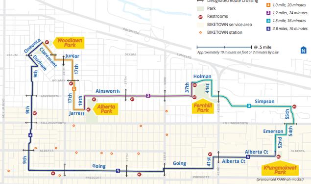NE Sunday Parkways Map 2019