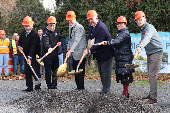 Breaking ground on the Blumenauer Bridge