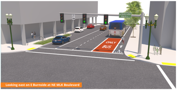Rose Lane rendering on NE MLK Jr. Blvd.