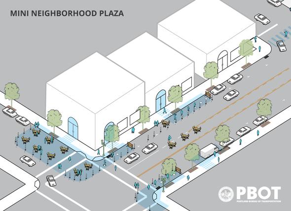Mini Neighborhood Plaza