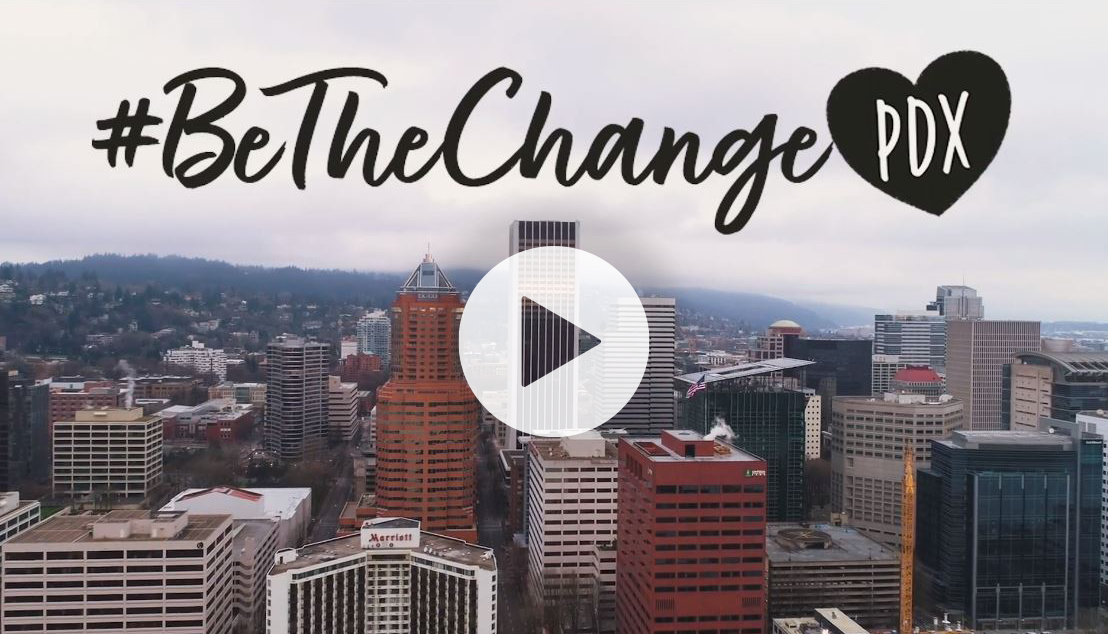 Be The Change Screen Shot Arrow for video
