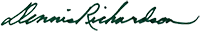 Secretary Richardson Signature