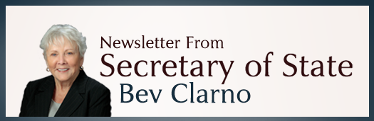 Newsletter from Secretary Bev Clarno