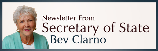 newsletter from Secretary of State Bev Clarno