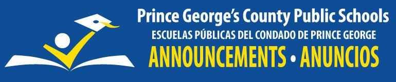PGCPS Announcements - Anuncios