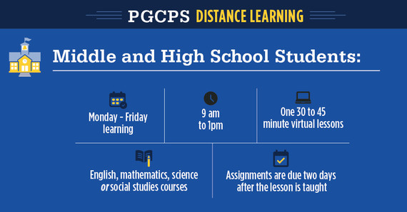 MS and HS distance learning schedule