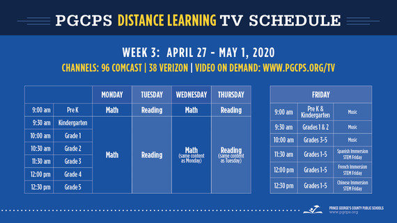 pgcps tv guide for week of april 27