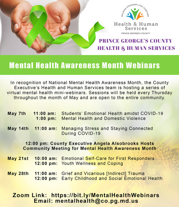 mental health awareness webinars