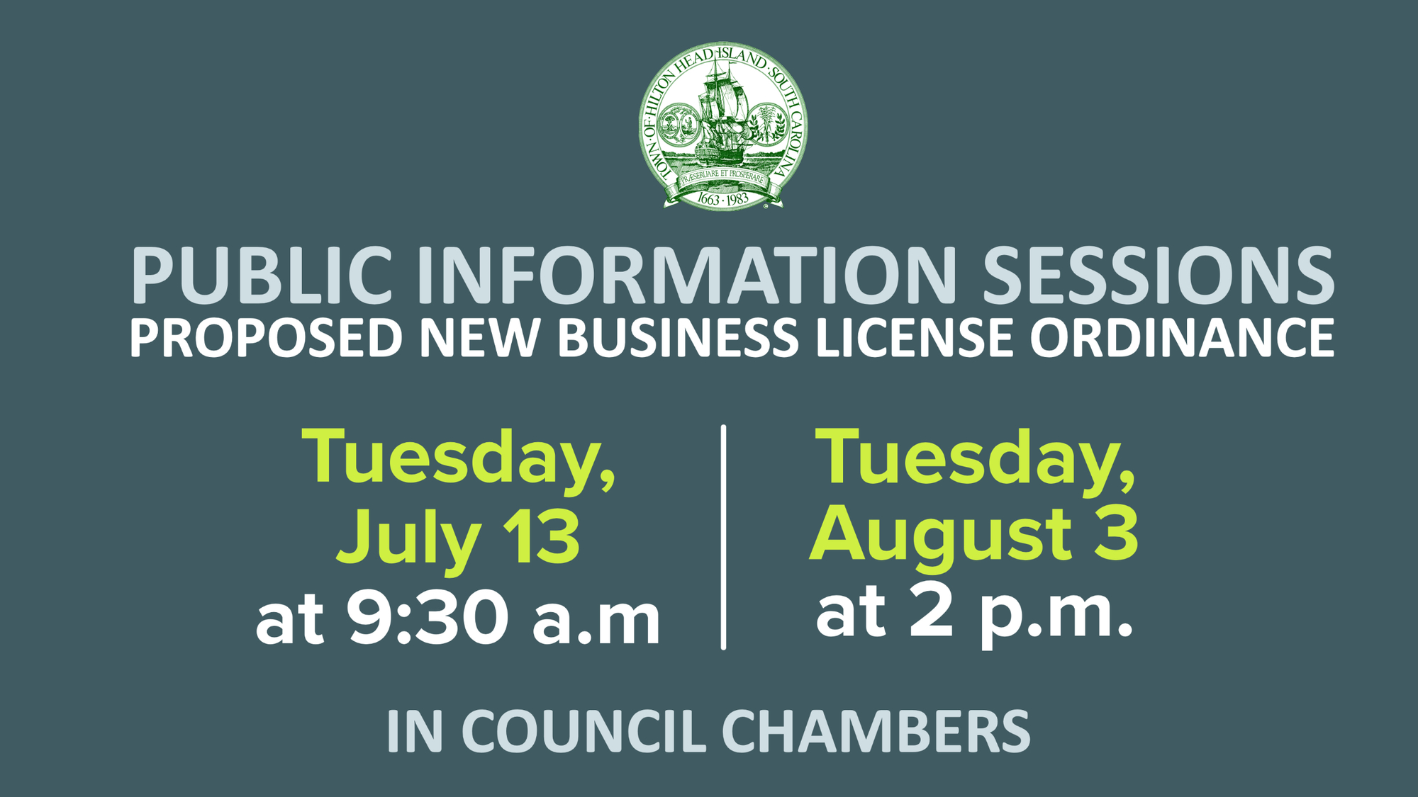 Business Owners Invited to Public Information Sessions on New Business License Law