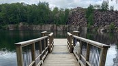 swimming quarry with platform