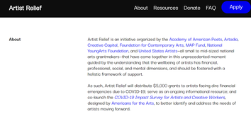 National Artists Relief Fund