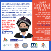 Vaccine at Hmong Shaman and Herb Center, August 22nd