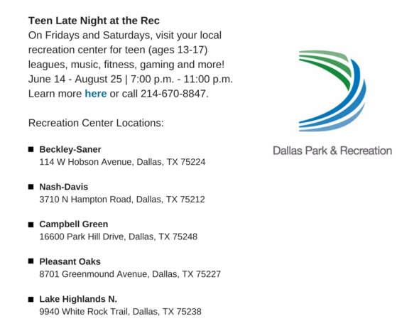 Dallas Park and Rec