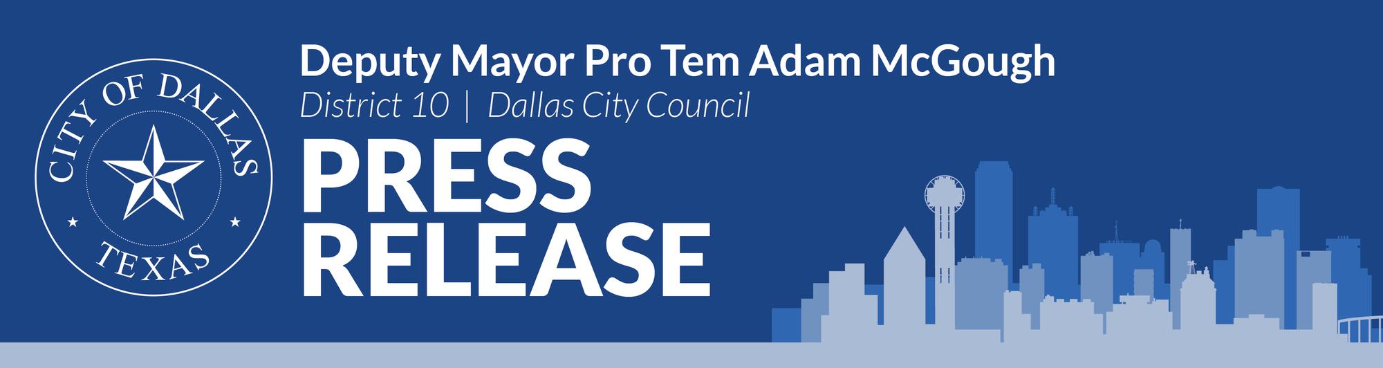 District 10 Press Release Header