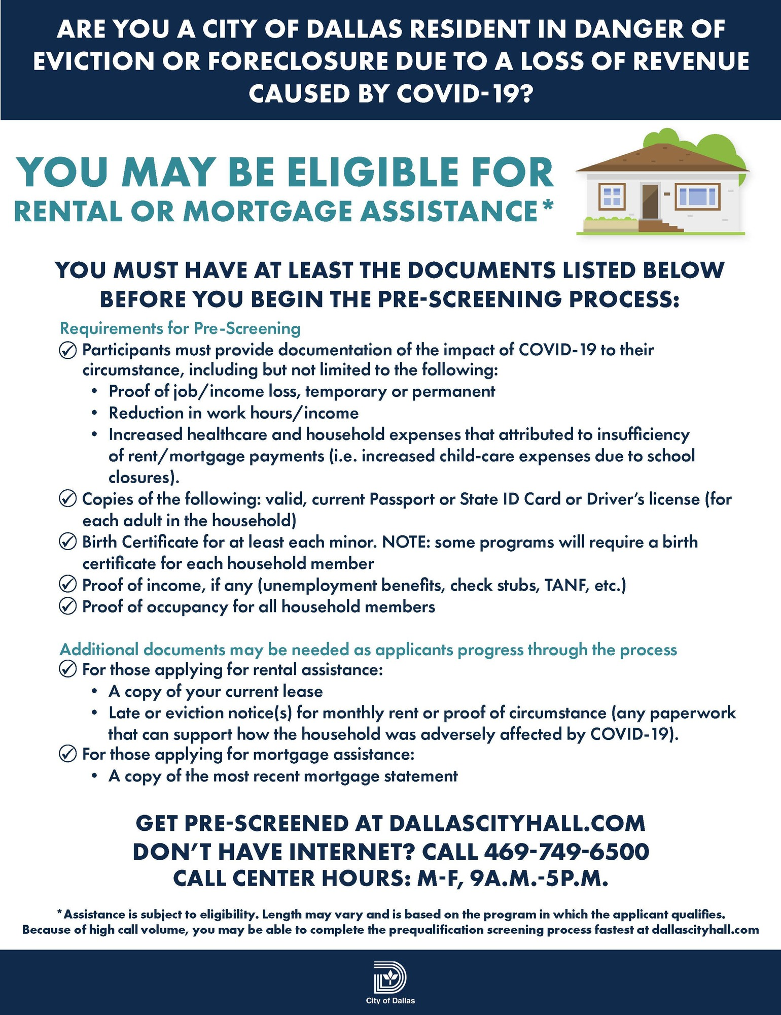 RentalMortgageAssistance - Checklist