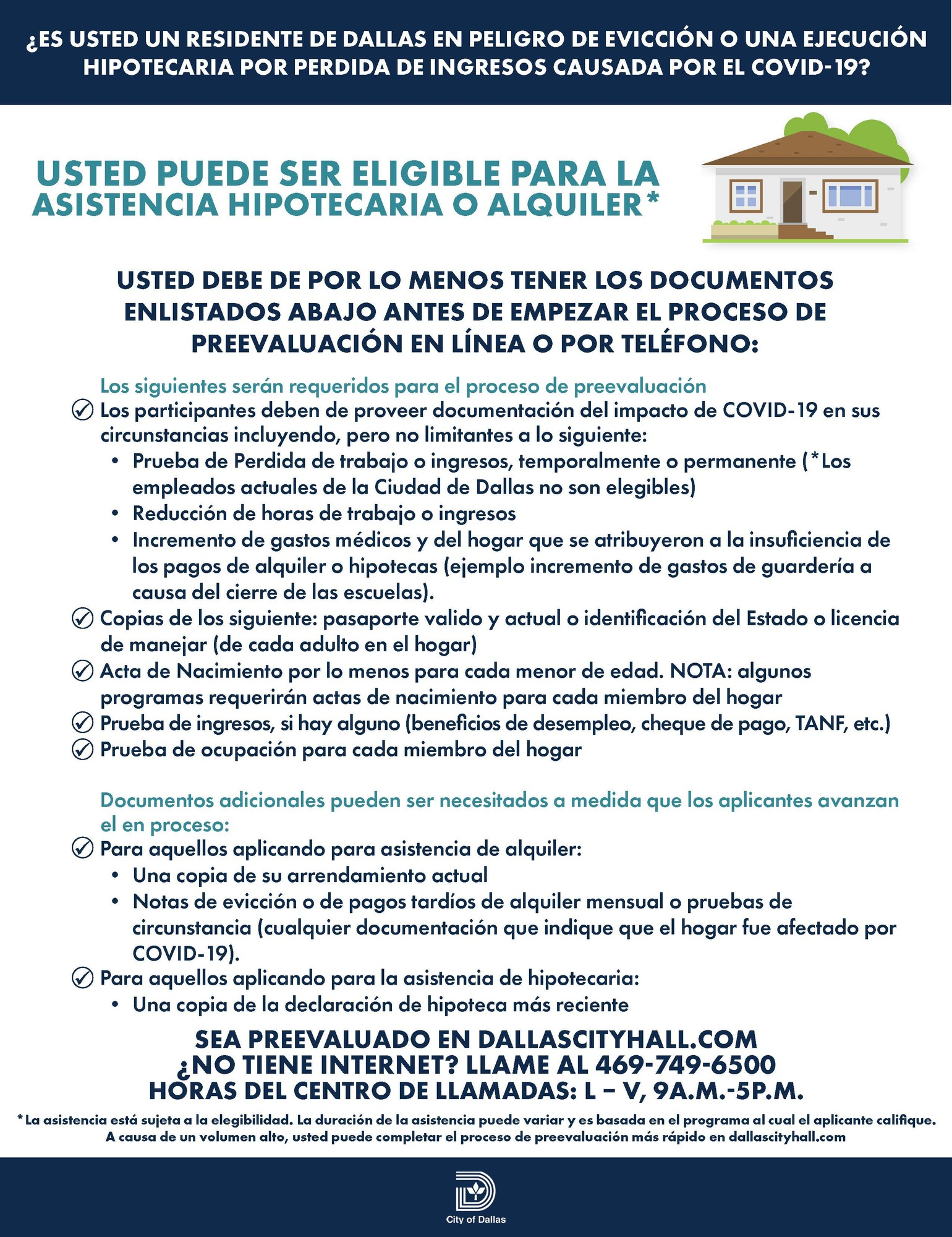 RentalMortgageAssistance - Checklist_Spanish