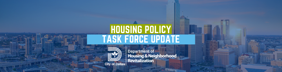 Housing Task Force Update Email header