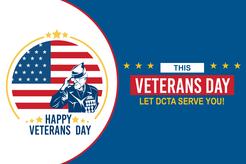 "text reads ""this Veterans Dat let DCTA serve you!"""