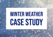 "Snow graphic with text ""winter weather case study"""