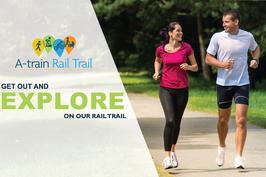 Walk, Bike, or Run on the A-train Rail Trail