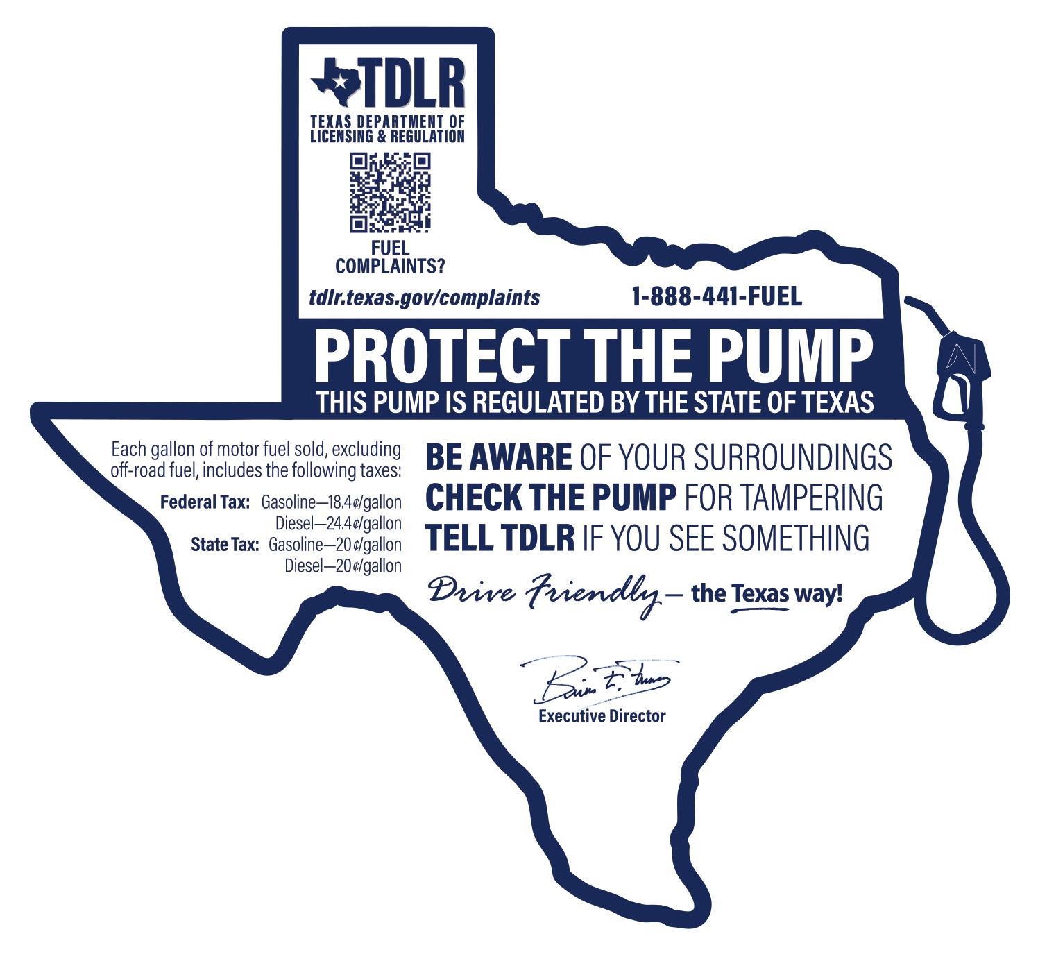 TDLR consumer information sticker