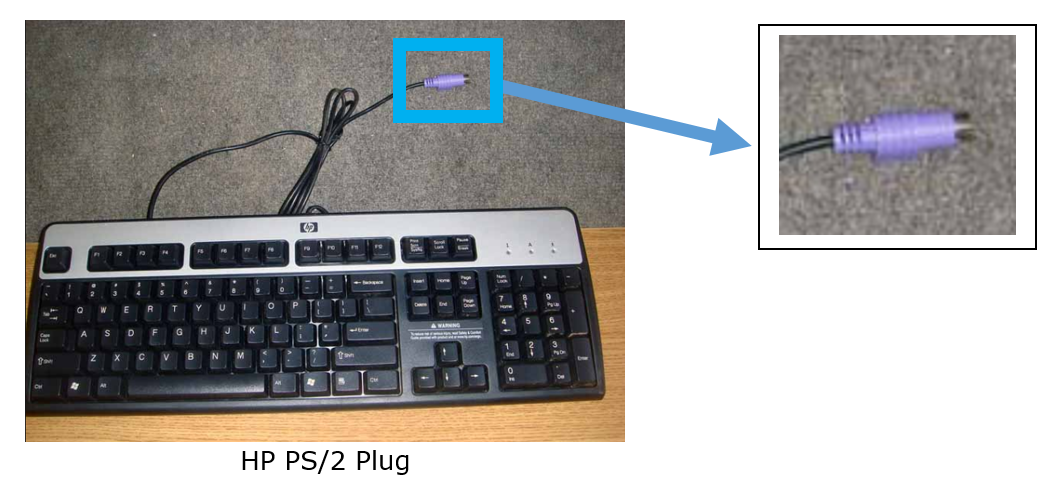 Keyboard PS/2 Plug