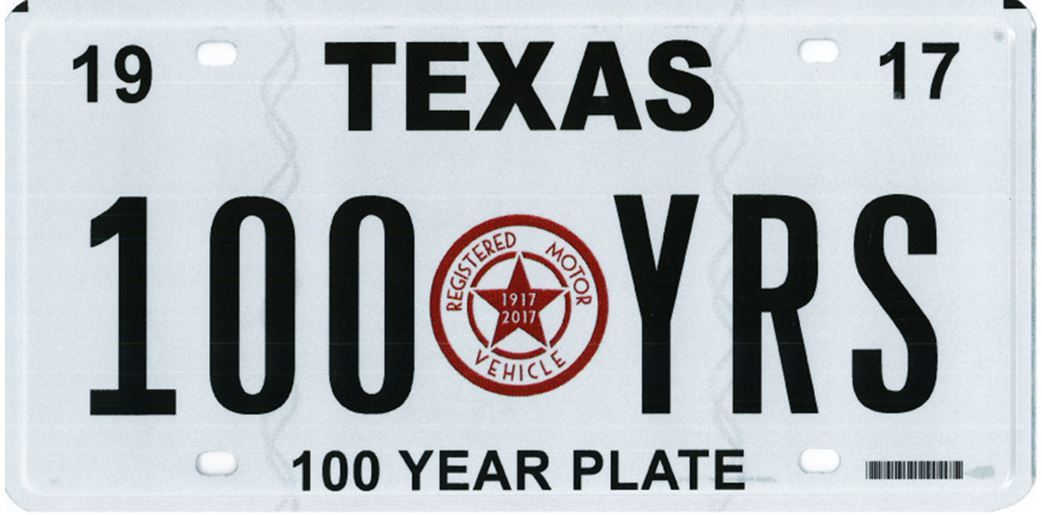 100 year plate