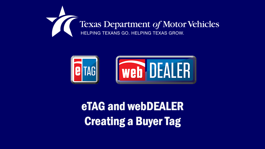 eTAG and webDEALER Video - Creating a Buyer Tag