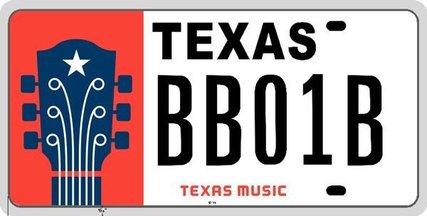 Texas Music license plate