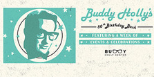 poster for Buddy Holly's 80th birthday bash